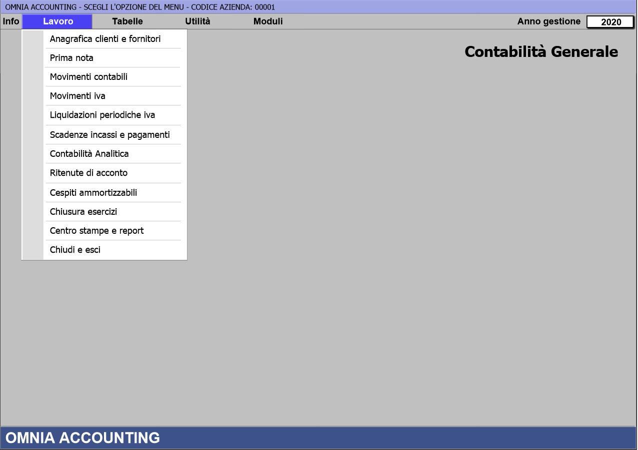 screenshot Omnia Accounting